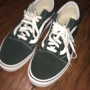 PINE GREEN VANS WORN ONCE BASICALLY BRAND NEW